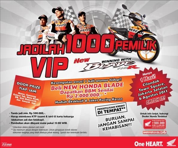 1000 Pemilik VIP New Honda Blade