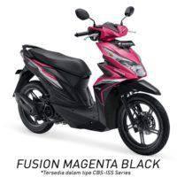 Honda BeAT eSP CBS ISS Fusion Magenta Black