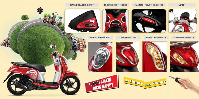 Aksesoris Resmi Honda Scoopy