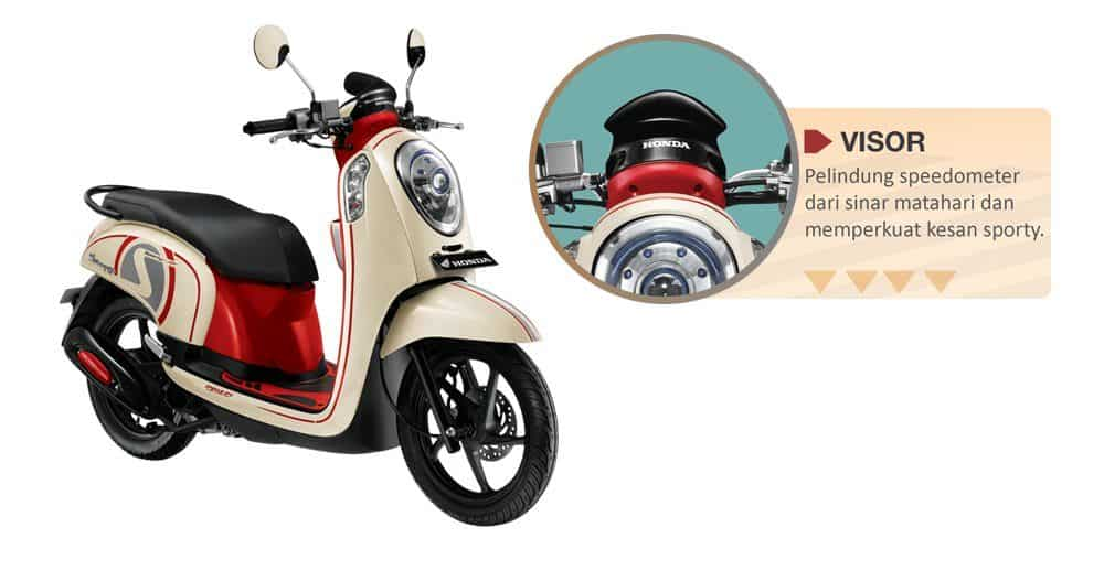 Visor Red Scoopy FI