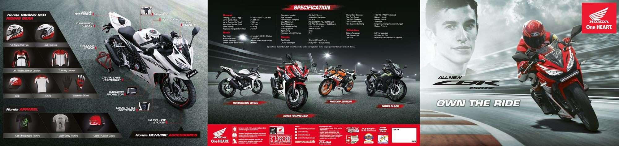 Brosur Motor All New Honda CBR 150R - 1