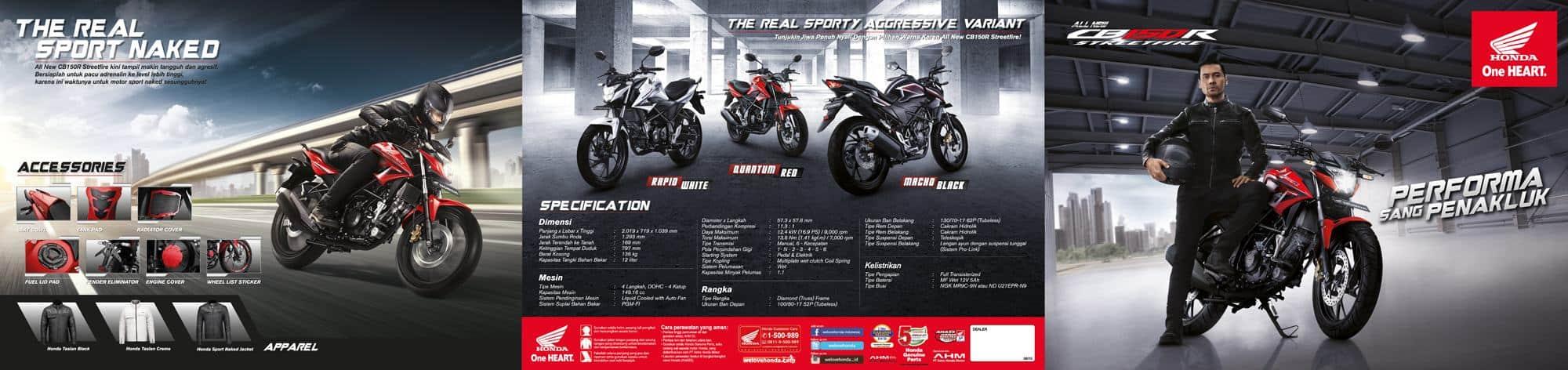 Brosur Motor Honda CB150R StreetFire 1