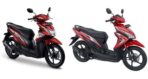 Perbedaan desain Body Honda Beat dengan Honda Vario Sebelah kiri adalah Honda Beat dan sebelah kanan adalah Honda Vario