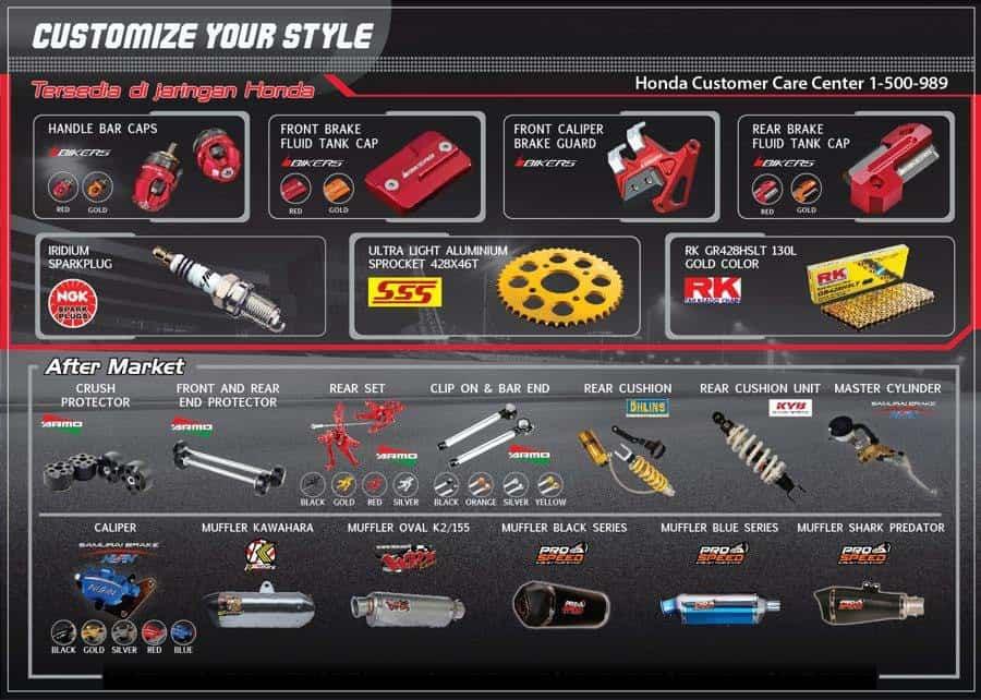 Custom Part All New Honda CBR 150R