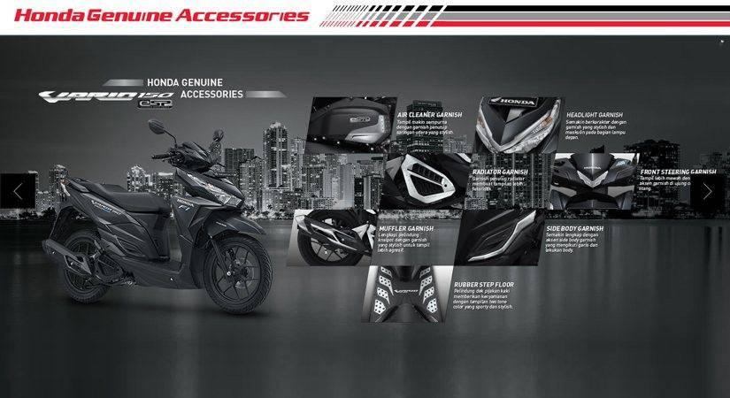 Paket aksesoris Honda Vario 125 eSP & Honda Vario 150 eSP ini hadir