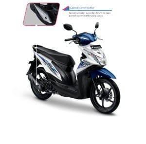 Garnish Cover Muffler Honda BeAT eSP