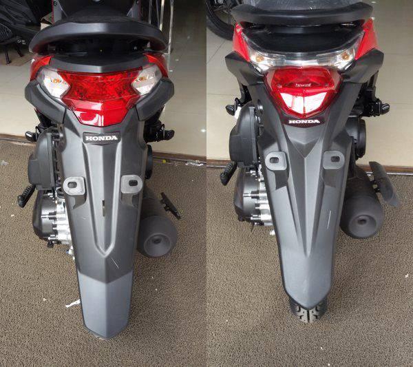 Perbedaan Honda BeAT eSP Desain Lampu Belakang