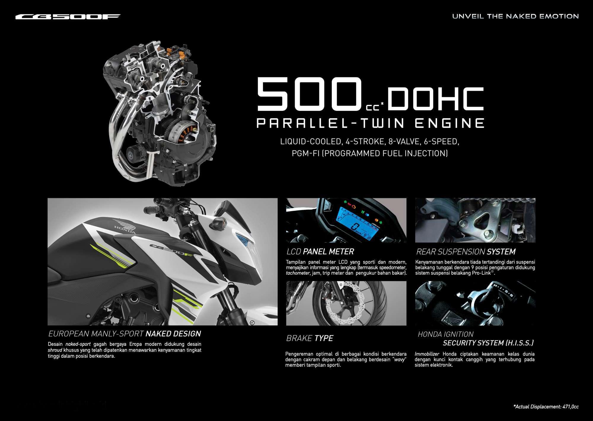 Brosur Motor Honda CB500F - 2