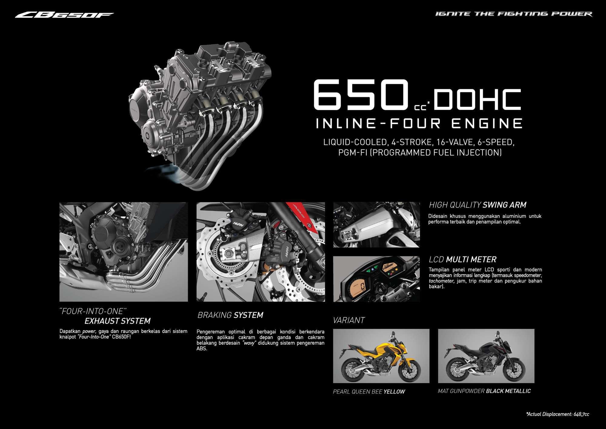 Brosur Motor Honda CB650F - 2