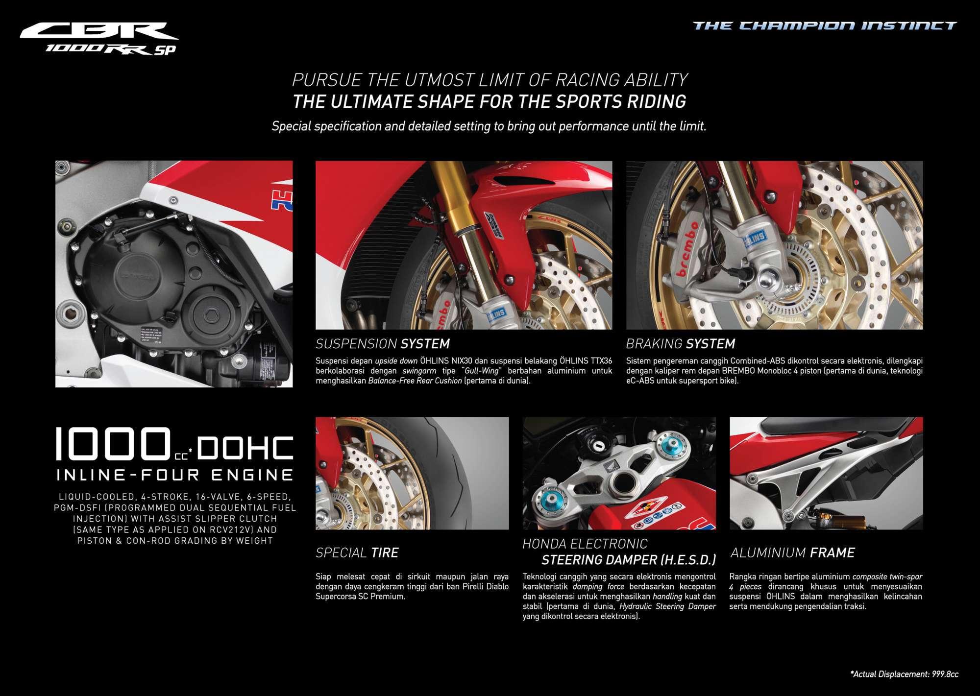 Brosur Motor Honda CBR 1000RR SP - 2