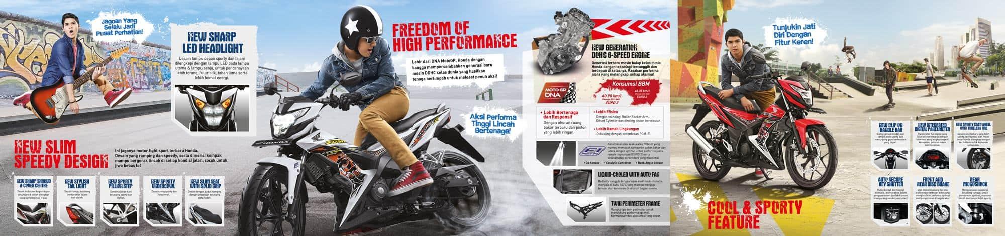Brosur Motor Honda Sonic 150R - 2