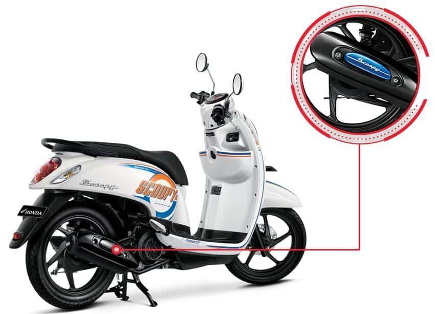Cover Muffler Honda Scoopy eSP