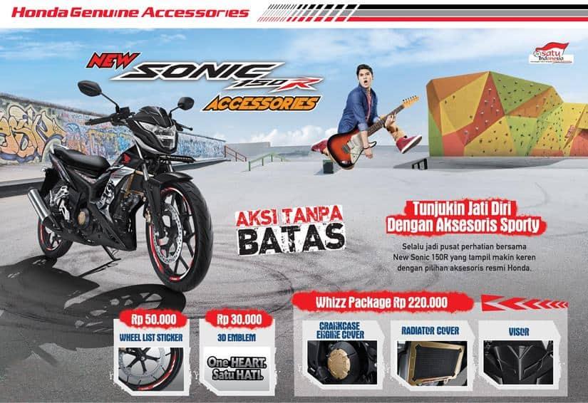 Aksesoris Resmi Honda Sonic 150R