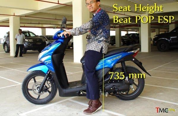 perhatikan tinggi seat height motor