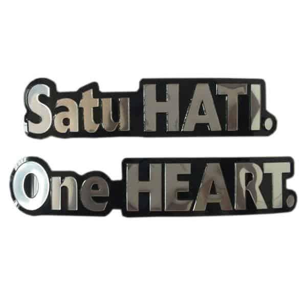3D Emblem One Heart