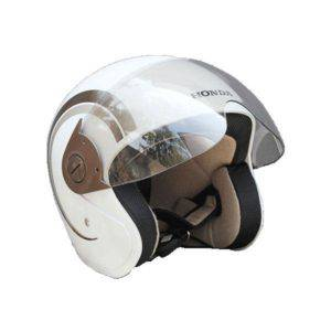 Helm Resmi Honda Scoopy White Brown
