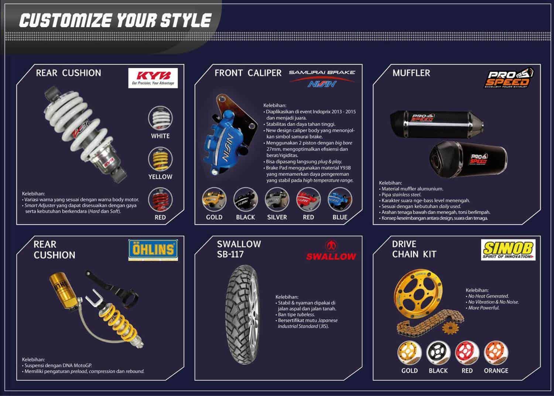 Aftermarket Customized Parts Honda Supra GTR 150