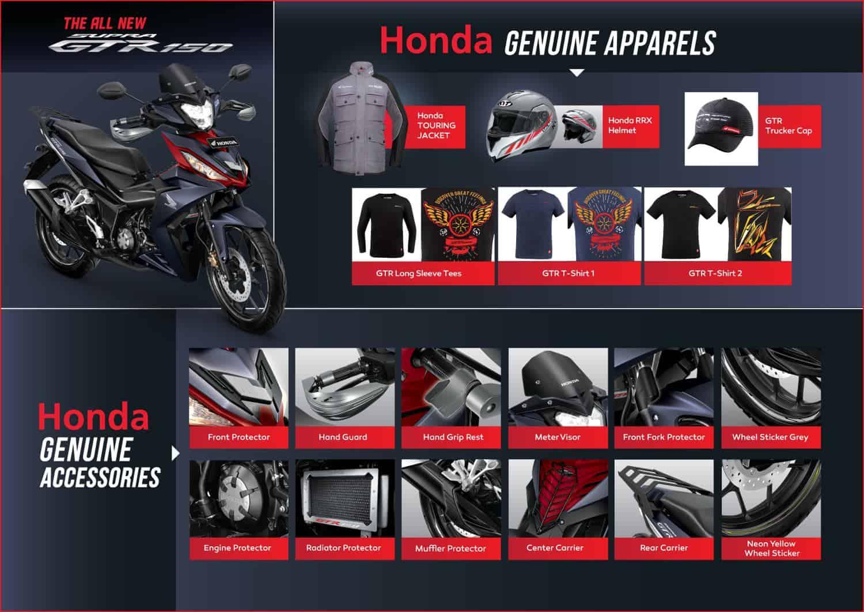 Aksesoris Resmi Honda Supra GTR 150