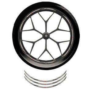 Wheel Rim Sticker Grey