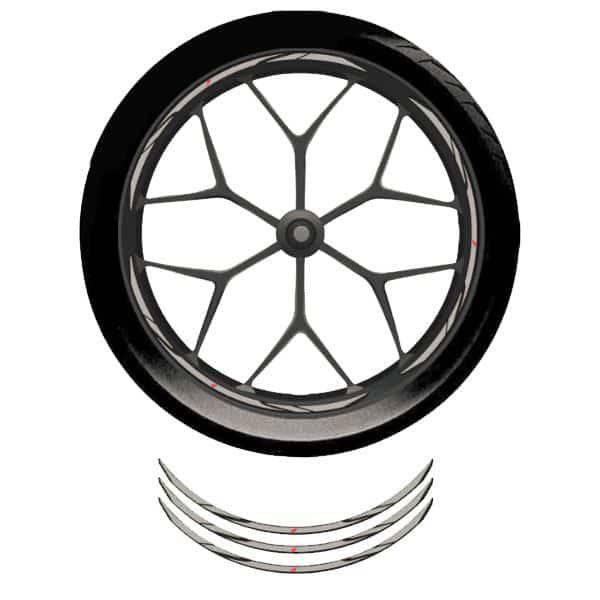 Wheel Rim Sticker Grey