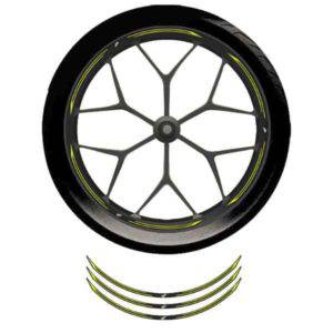Wheel Rim Sticker Yellow