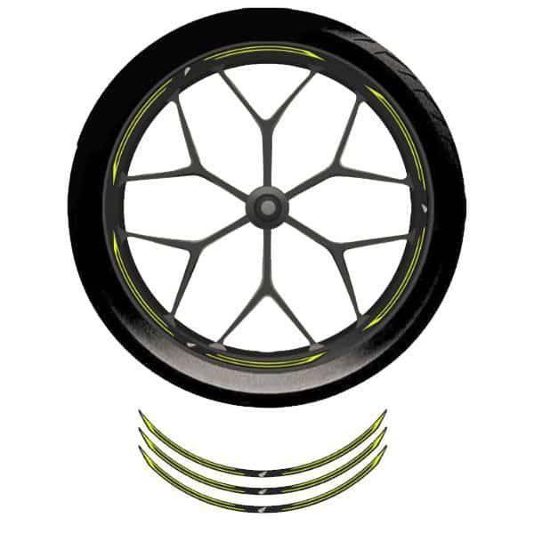 Wheel Rim Sticker Yellow