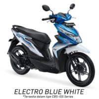 Honda BeAT eSP CBS ISS Electro Blue White