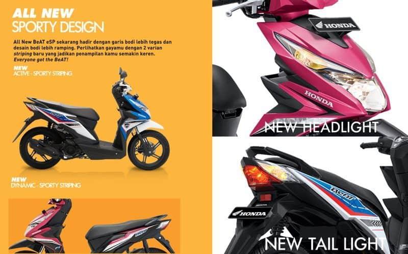 All New Honda BeAT eSP Hadir Dengan Tampilan Baru