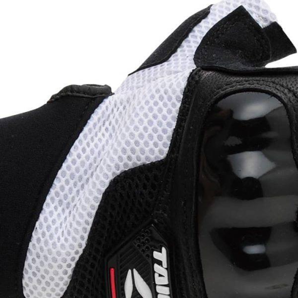 RS Taichi Pro-Tech Half Finger Mesh Glove Black White – RSTT02
