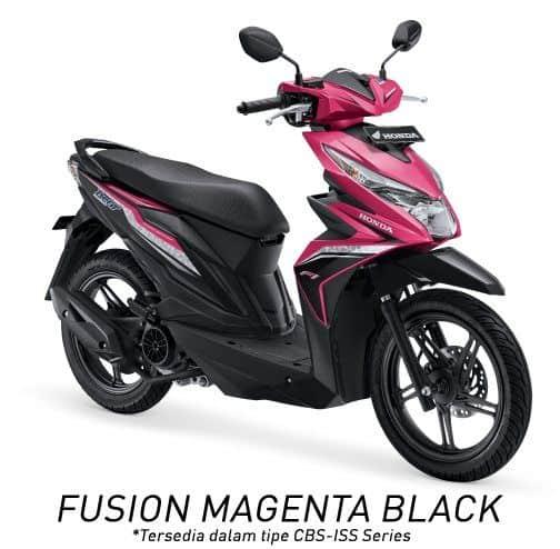 honda beat esp cbs iss k81 fusion magenta black