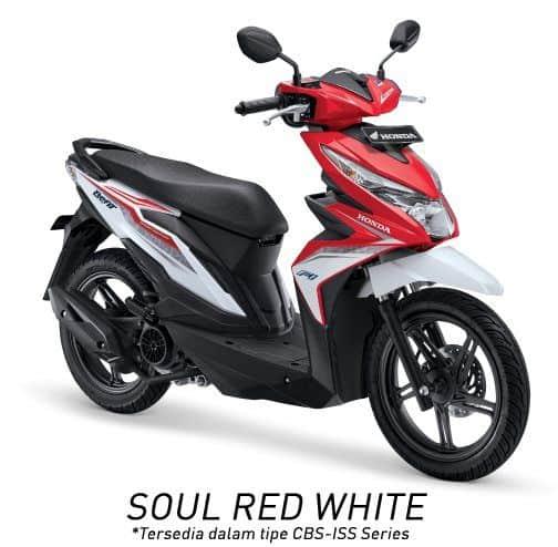 honda beat esp cbs iss k81 soul red white