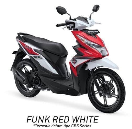 honda beat esp cbs k81 funk red white