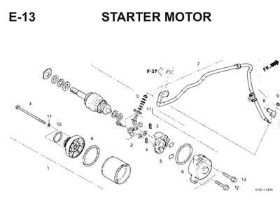 E13 Starter Motor