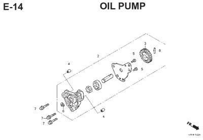 e14 oil pump