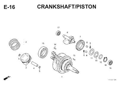 E16 Crankshaft Piston