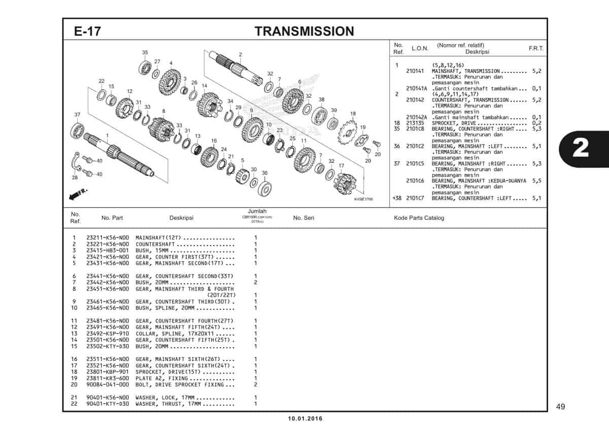 e17 transmission - 1