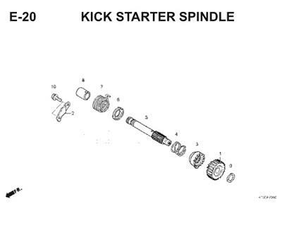 E20 Kick Starter Spindle