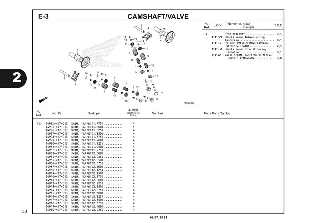 E3 Camshaft Valve 2