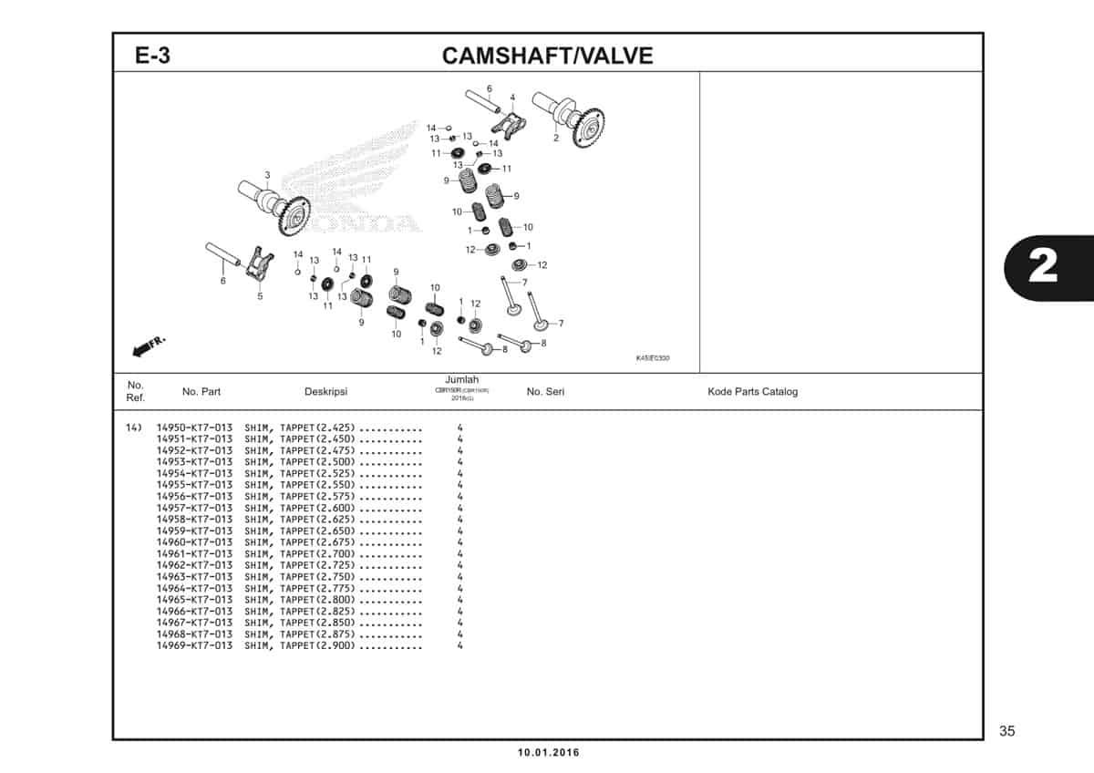 e3 camshaft valve - 3