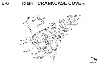 Katalog suku cadang honda cbr 150 k45g honda cengkareng e6 right crankcase cover ccuart Images