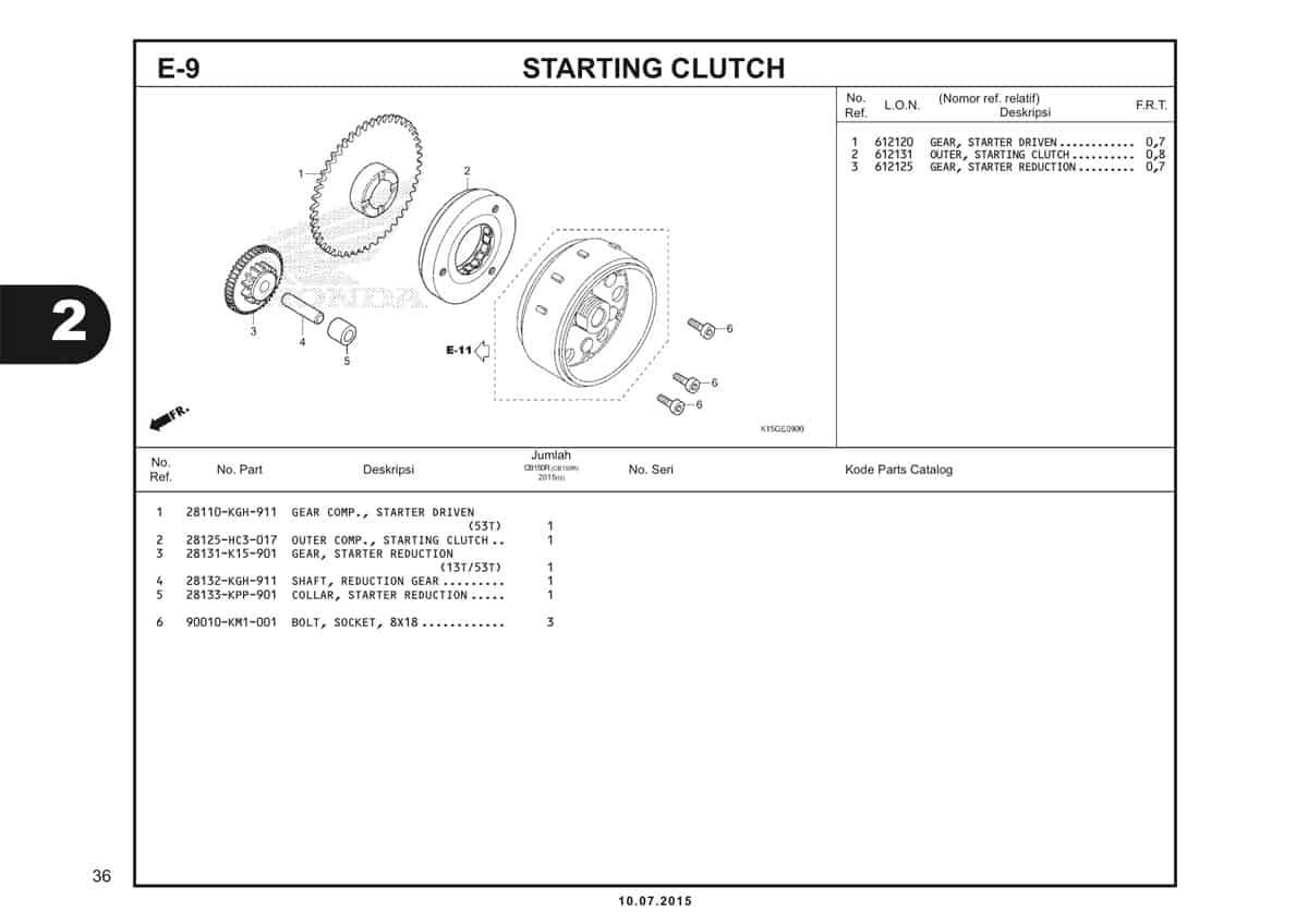 E9 Starting Clutch