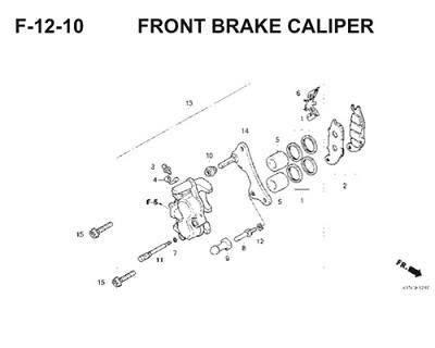 F12 10 Front Brake Caliper.