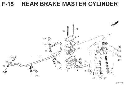 f15 rear brake master cylinder