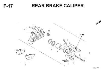 F17 Rear Brake Caliper