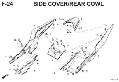f24 side cover rear cowl