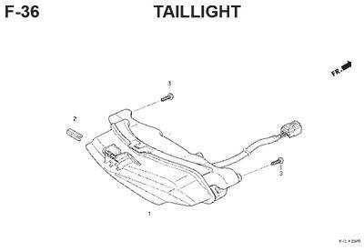 f36 taillight