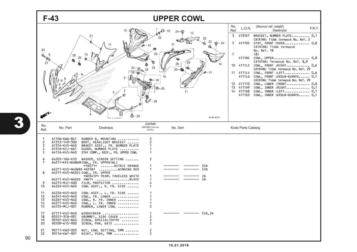 f43 upper cowl - 1