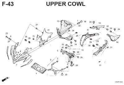 f43 upper cowl