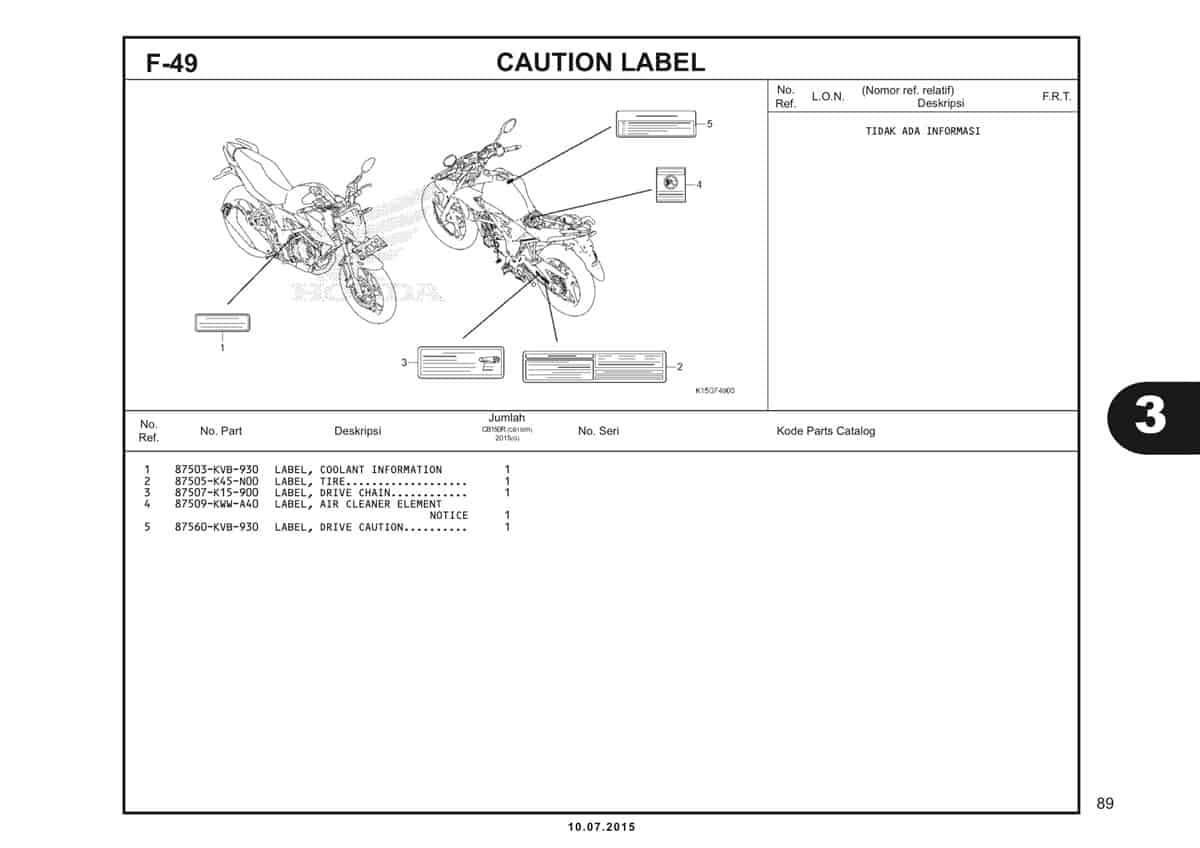 F49 Caution Label