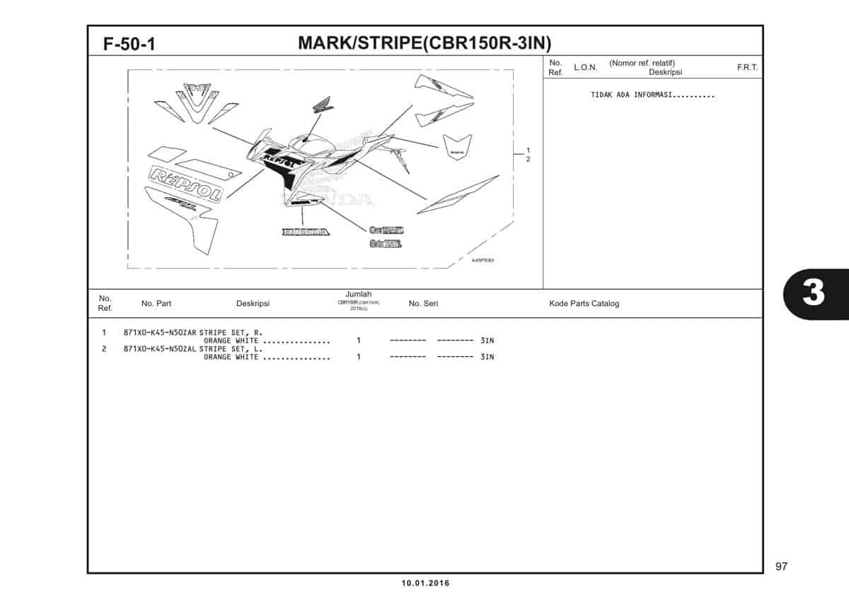 f50-1 mark stripe cbr150r-5in-in-1